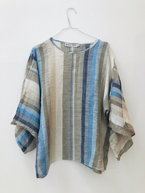 SOLD striped linen top
