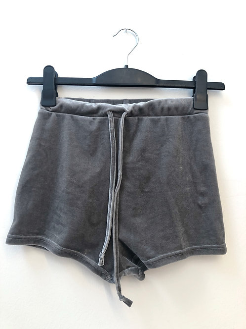 SOLD grey velvet hot pants