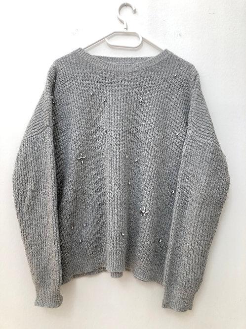 grey fancy stone pullover