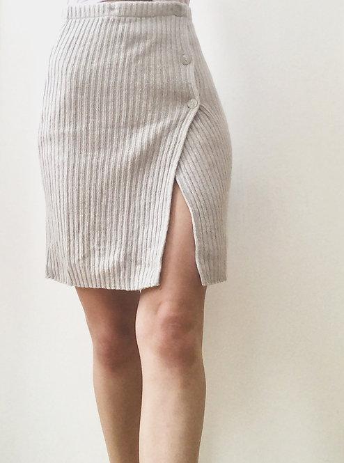 SOLD grey wool wrap skirt