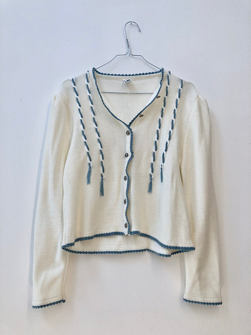 blue detail cardigan