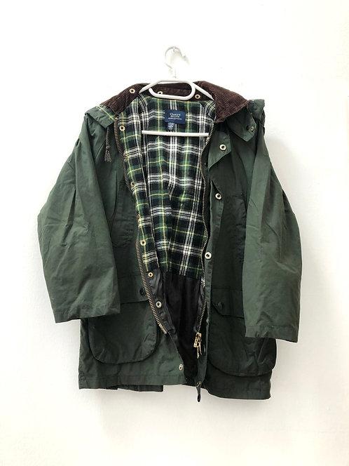 green outdoor jacket 3/4 sleeves
