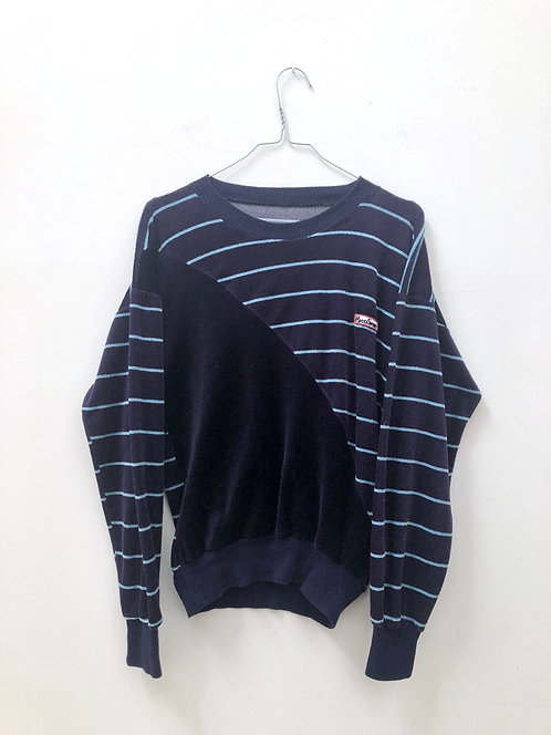 SOLD striped vintage velvet sweater