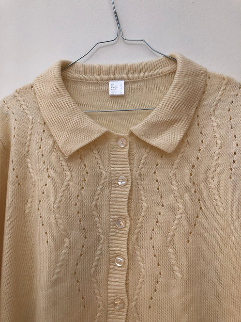 SOLD creme polo pullover