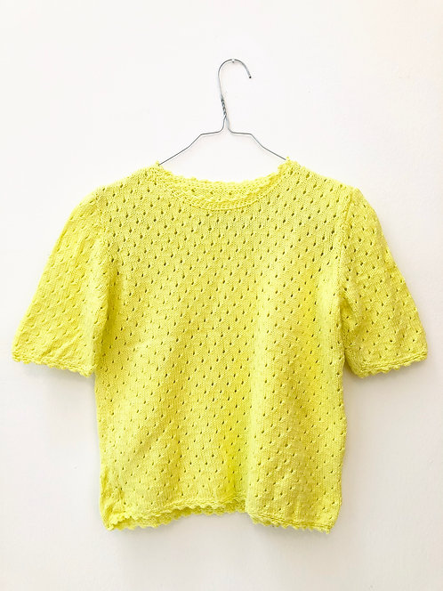 SOLD yellow knit top