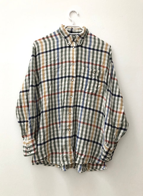 SOLD colorful flannel shirt