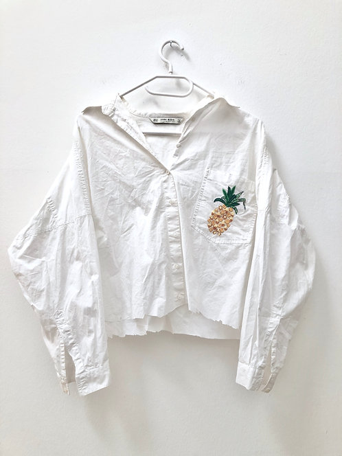 SOLD white pineapple shirt