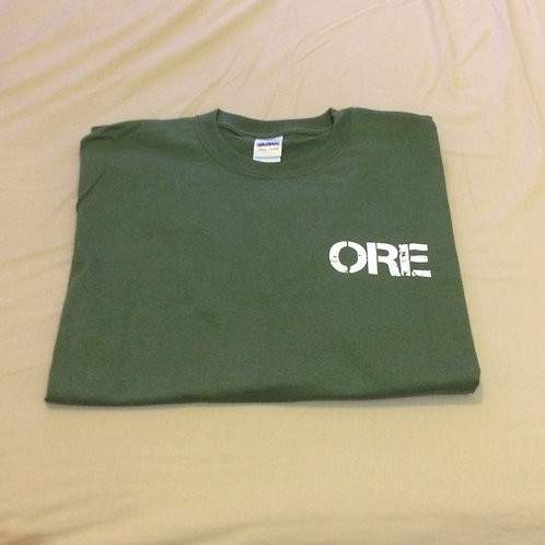 "Olive drab green""Because life tastes better when its covered in mud""Tshirt"