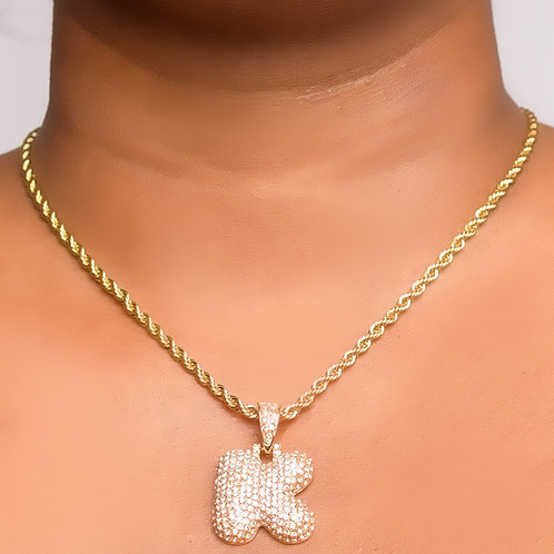 """Icy BarBae """"A-Z"""" necklace"""