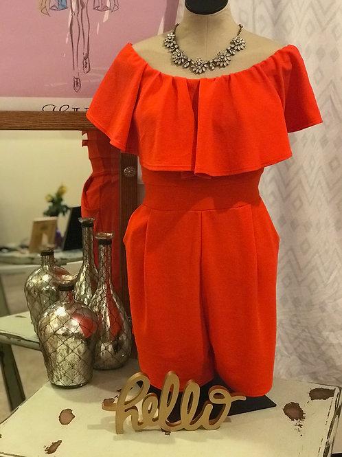 Bright Orange Jumper w/Pockets