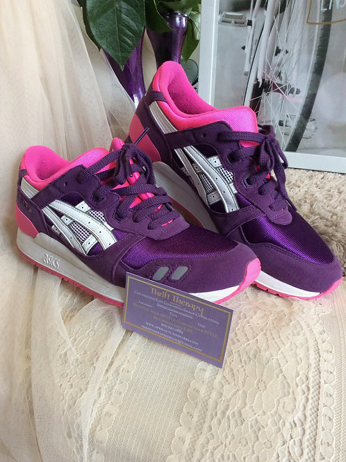 Pink & Purple Asics Casual Shoes