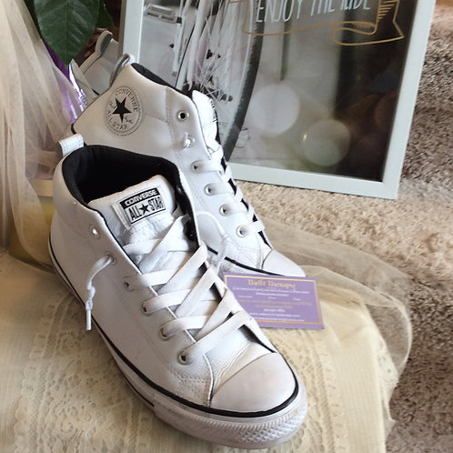 Converse High Top Leather Shoes Size 10