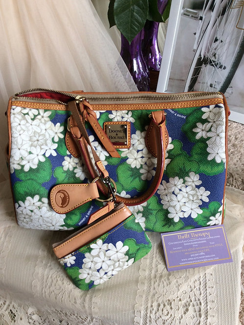Dooney & Bourke Spring Bouquet Bag w/Key Ring & Coin Purse