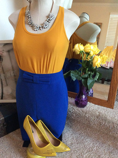 Bright Blue Banana Republic Skirt w/Bow