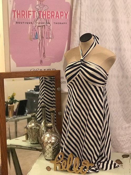 Banana Republic Nautical Striped Halter Dress
