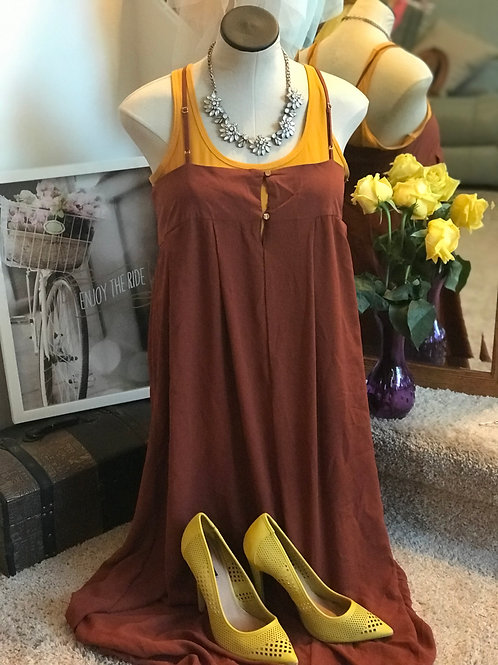 What To Wear Burnt Orange Dress XL