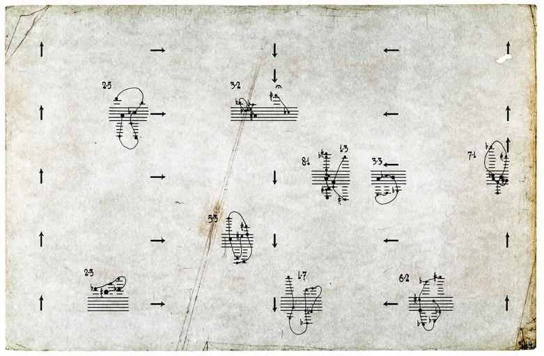 Works on Paper-Atlas Eclipticalis pp.344, John Cage, 2007