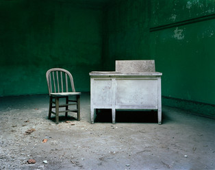Desk & Chair, Ellis Island 1997