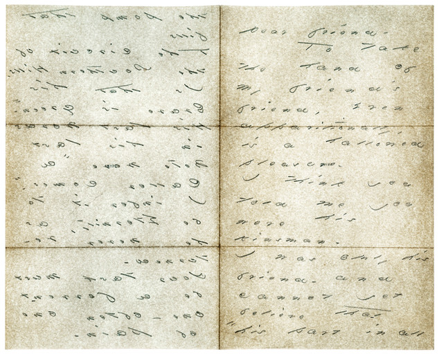 """Emily Dickinson, 1885 letter to Benjamin Kimball """" Though the Great Waters Sleep"""", 2005"""