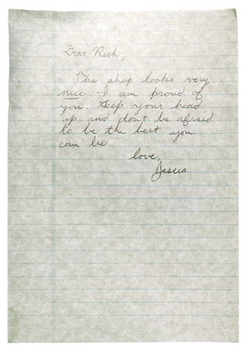 A note from Jesus, Works on Paper, 2009