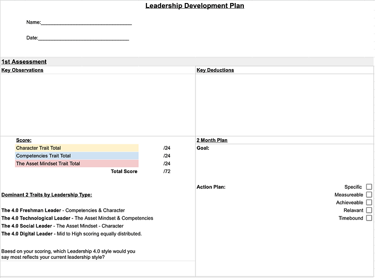 The Leadership Development Plan