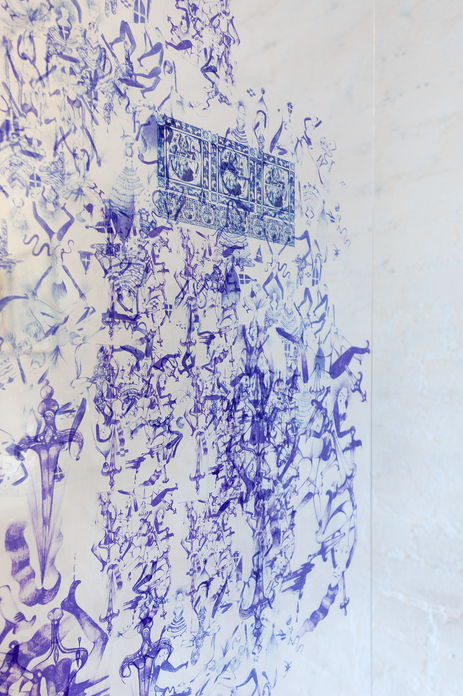 When your palace becomes a prison, 2019. Plexiglass, 3 feet by 6 feet (Detail)