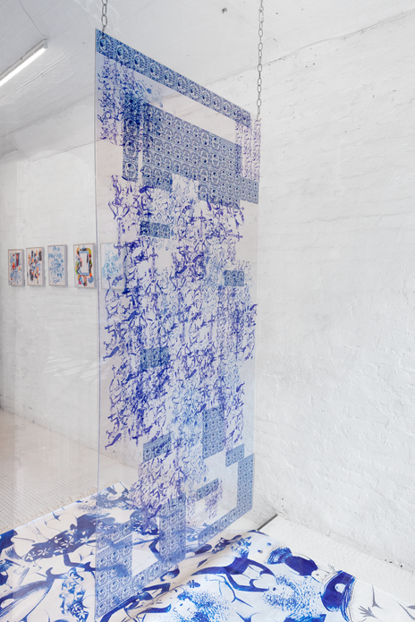 When your palace becomes a prison, 2019. Plexiglass, 3 feet by 6 feet.