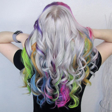 Platinum with Rainbow