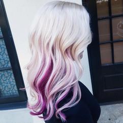 Platinum Blonde with Pink