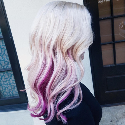 Platinum Blonde with Pink