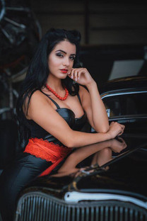 Model Paola Duque for Knights Motors