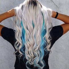 Platinum Blonde with Peekaboo Color