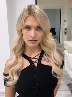 Blonde hair with extensions