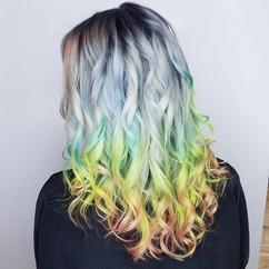 Neon Rainbow Hair