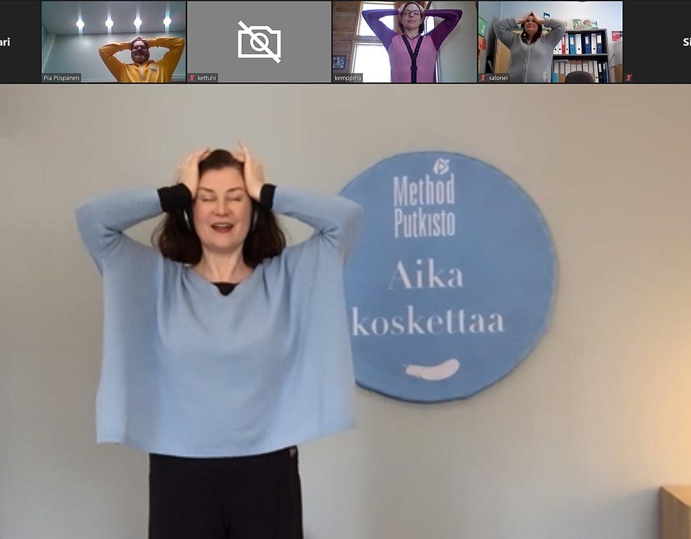 Method Putkisto-ohjaaja Elina Heinisuo ja Hailuodon hyvinvointiryhmä