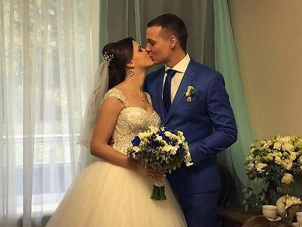 Свадьба в синих тонах