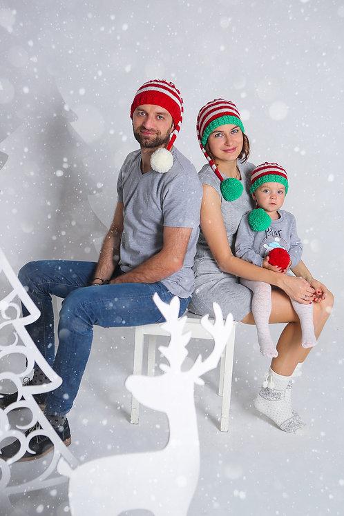 Новогодний колпак для взрослых