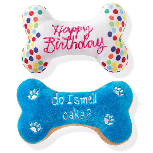 Birthday Bones Plush Dog Toys