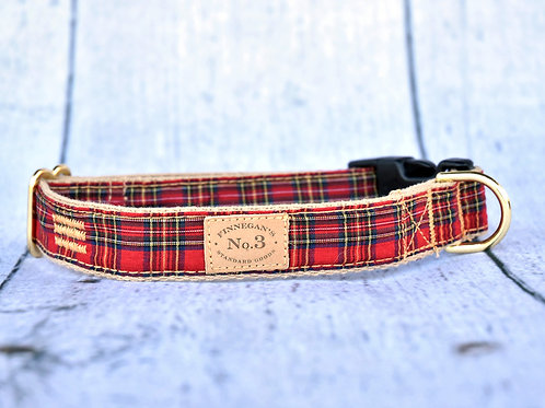 Red Plaid Collar
