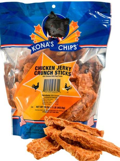 Kona's Chips Chicken Jerky CRUNCH Sticks