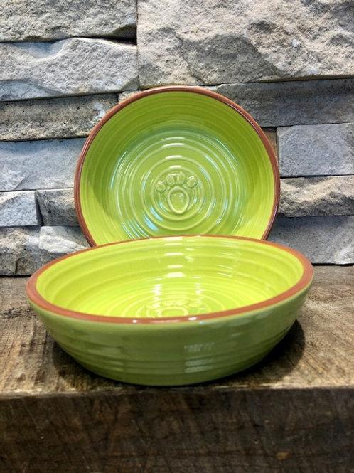 Paw Saucer/Bowl Lime
