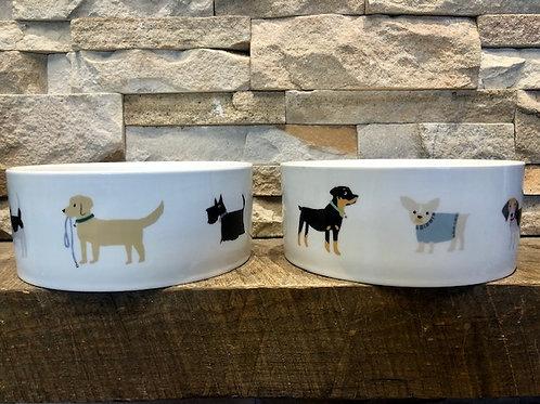 Happy Pups Ceramic Bowl