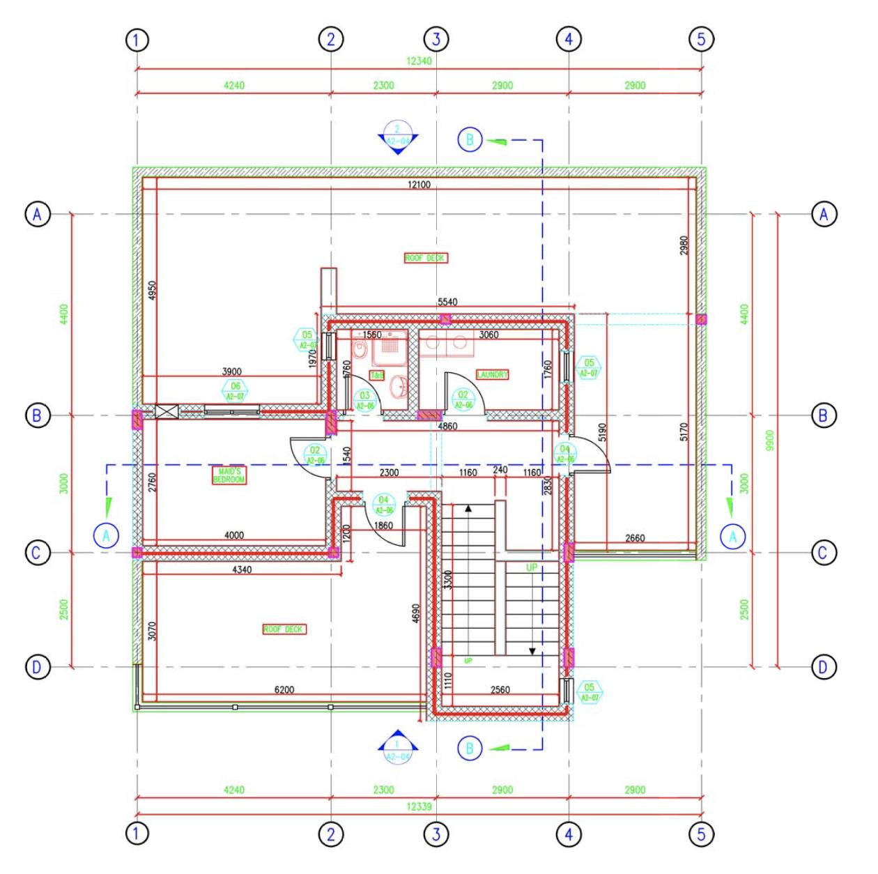 Villa Second Floor Plan