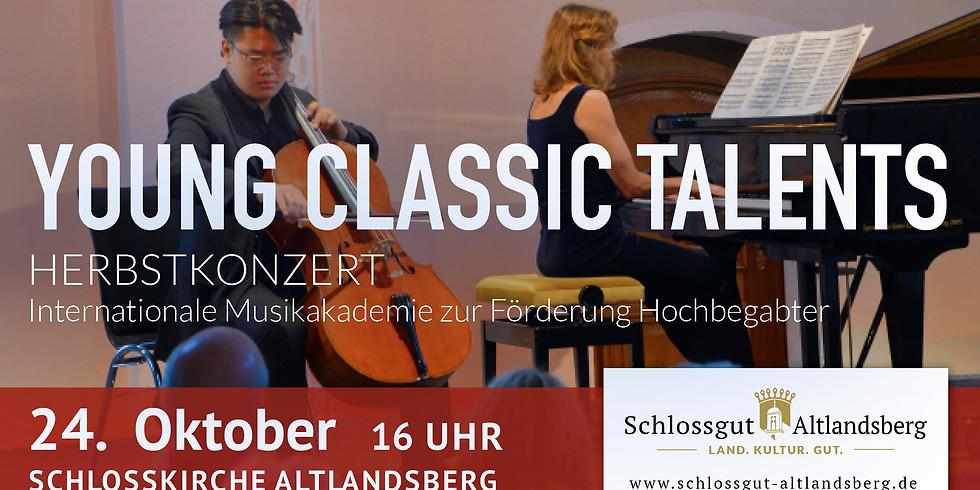 Young Classic Talents: Herbstkonzert Internationale Musikakademie zur Förderung Hochbegabter