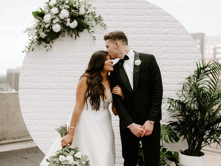JORDAN + KASS'S DREAMY ROOFTOP WEDDING