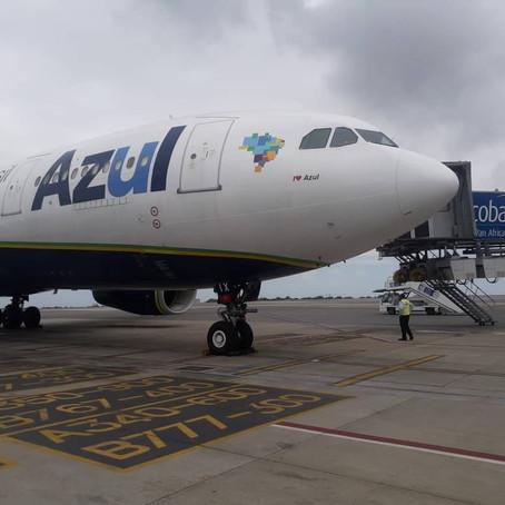 Azul realiza voos de repatriação para Gana e Trindade e Tobago