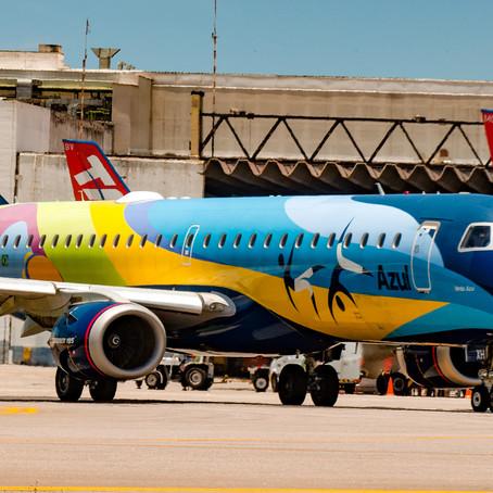 Azul vai operar 17 voos diários entre agosto e setembro em Congonhas
