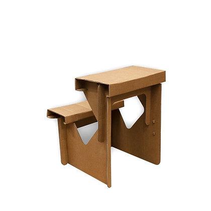 Petit bureau enfant avec siège écologique en carton recyclé