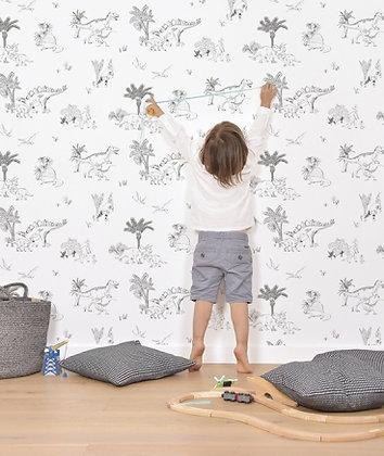 Papier peint dinosaures pour enfant chambre