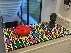 Lego brick improvised desk #legoart #leg